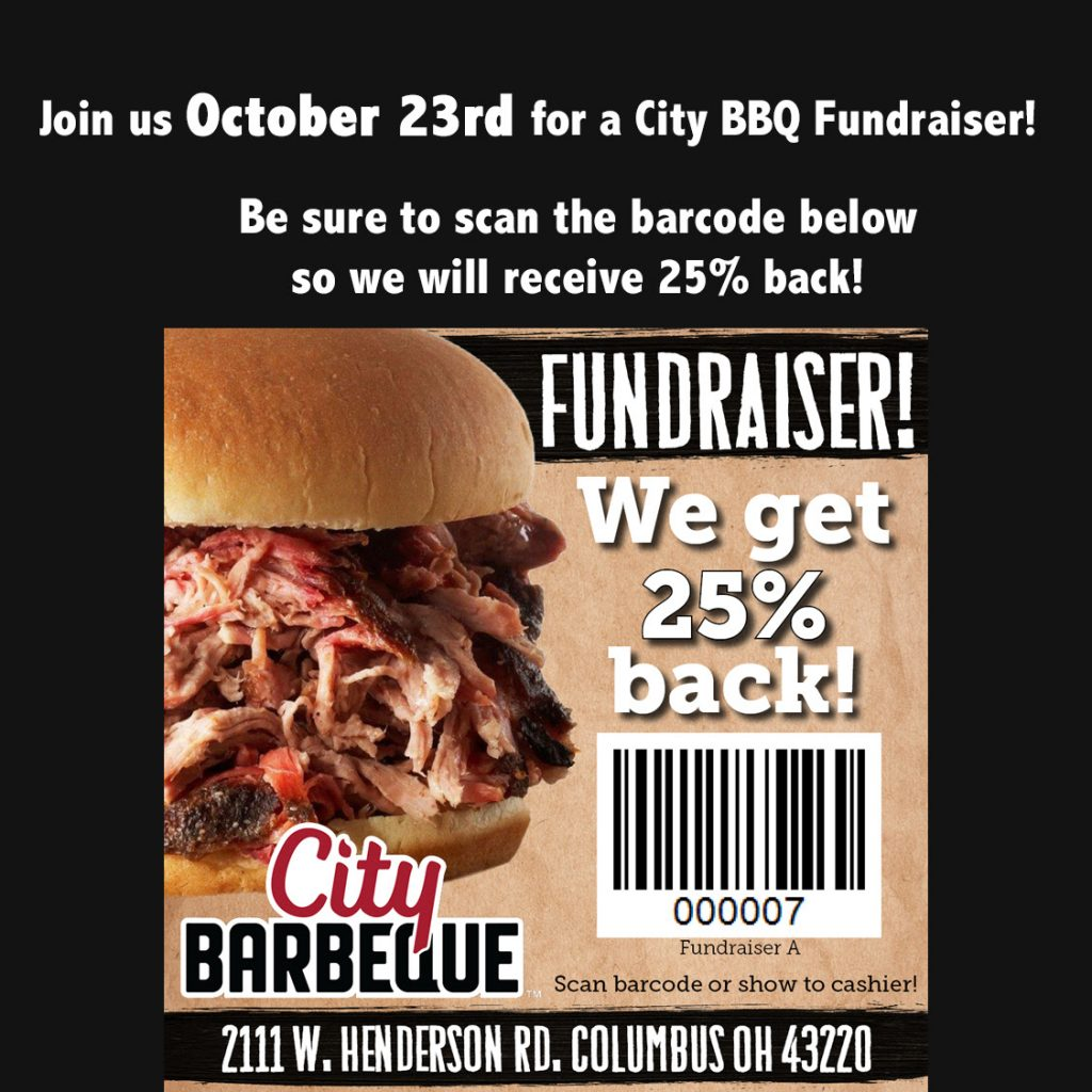 Photo of a bar code to show at City BBQ for a 25% discount