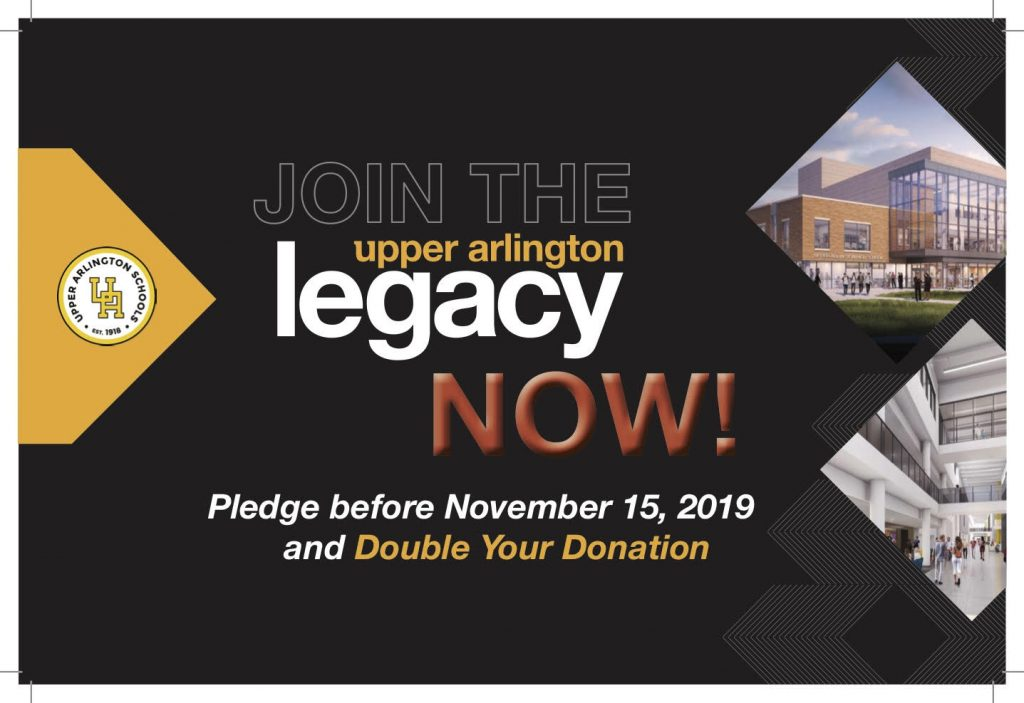 "UA Legacy campsign ""join now"" before November 15, 2019 and double your donation"